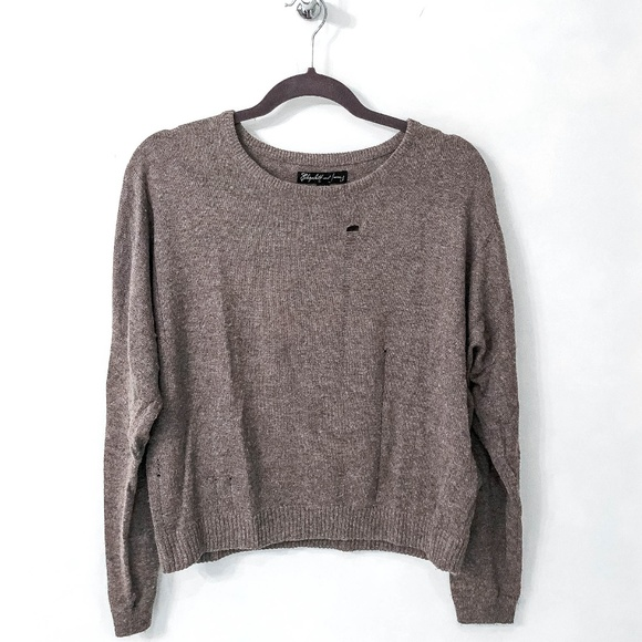Elizabeth and James Sweaters - Elizabeth and James Dotti Laddered Sweater